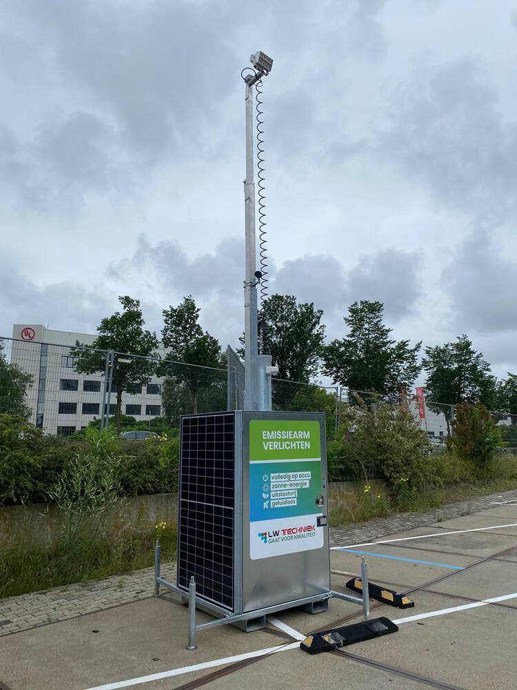 Lichtmasten geplaatst in Leiden