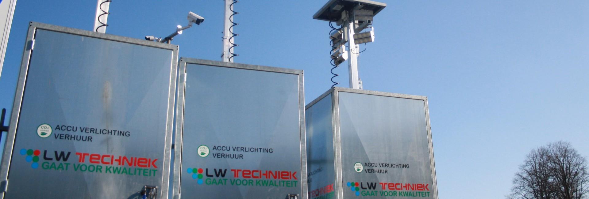 Mobiele CO2 vrije lichtmasten